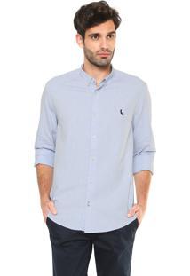 Camisa Reserva Oxford Reta Azul