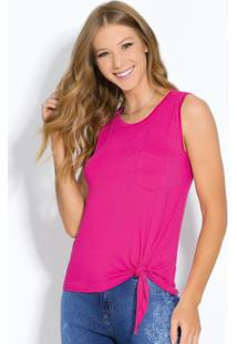 Blusa Pink Com Bolso Frontal