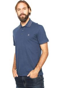 Camisa Polo John John Melange Azul