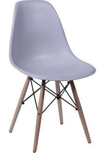 Cadeira Eames Dkr- Cinza & Madeira Escura- 80,5X46,5Or Design