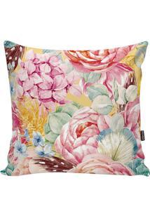 Capa De Almofada Flowers- Verde Claro & Amarela- 42Xstm Home