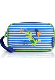 Necessaire Estojo Infantil Jacki Design De Microfibra - Masculino-Azul