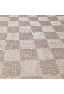 Papel De Parede Geomã©Trico- Bege & Marrom- 100X52Cm