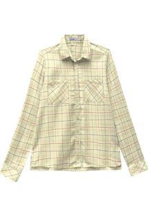 Camisa Xadrez Flanela Malwee