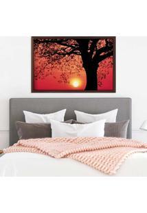 Quadro Love Decor Com Moldura Savana Sunset Madeira Escura Médio