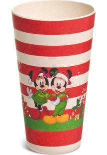 Enfeite Natal Decorativo Copo Listrado Mickey E Minnie Noel