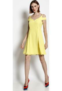 Vestido Com Passamanaria & Seda - Amarelo - Versaceversace