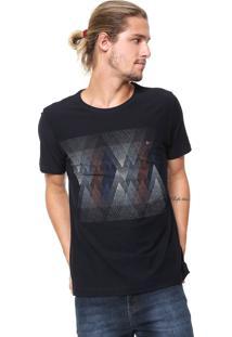 Camiseta Aramis Pontilhismo Azul-Marinho