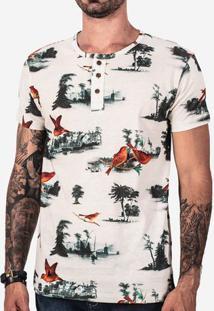 Camiseta Henley Birds And Trees 101685