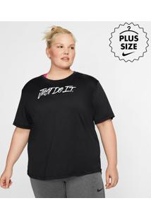 """Plus Size - Camiseta Nike """"Just Do It"""" Feminina"""