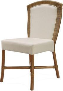 Cadeira Parma Assento Cor Branco Com Base Madeira Apui - 44721 - Sun House