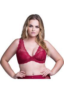 Sutiã Top Rendado Marcyn - Feminino-Vermelho