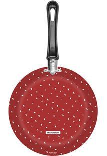 Frigideira Antiaderente Tramontina Vivacor Estampada Vermelha 24Cm