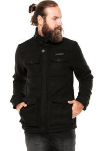 Casaco Polo Wear Bolsos Preto