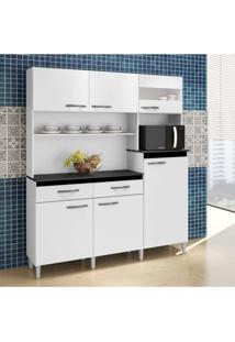Armário De Cozinha 6 Portas 2 Gavetas Arte Móveis Branco
