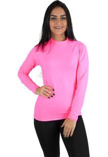 Camisa Térmica Rioutlet Feminina Rosa Neon
