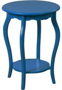 Mesa De Apoio Redonda 50X50 - Azul Bic - Tommy Design