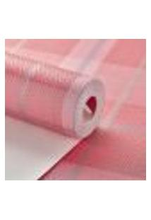 Papel De Parede Importado Vinilico Texturizado Xadrez Rosa