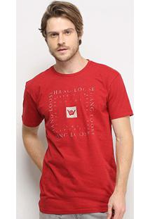 Camiseta Hang Loose Otic Masculina - Masculino-Vermelho