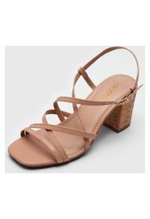 Sandália Dafiti Shoes Cortiça Bege