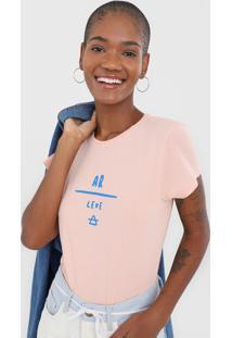Camiseta Cantã£O Ar Leve Rosa - Rosa - Feminino - Algodã£O - Dafiti