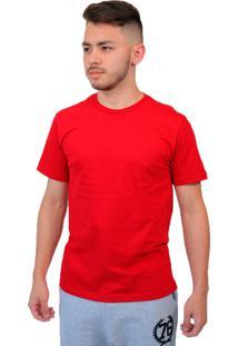 Camiseta Manga Curta Baiki Badhai Gola Redonda Vermelha