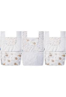 Porta Fraldas Baby Joy Kit 3 Peças Neutras Para O Enxoval