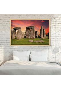 Quadro Love Decor Com Moldura Stonehenge Madeira Clara Grande