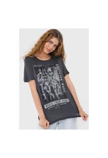 Camiseta Colcci Rock Style Grafite
