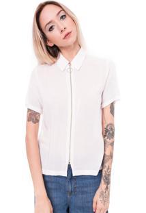 Camisa Saloon 33 De Viscose Branca