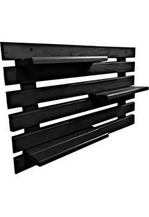 Floreira Vertical Madeira Alce Couch Vaso Parede Preto 60Cm