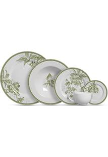 Aparelho De Jantar 20 Peças Heritage - Alleanza - Branco / Verde