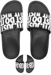 Chinelo Slide Nike Sportswear Benassi Jdi Print Preto