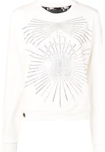 Philipp Plein Logo Print Sweater - Branco