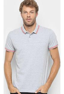 Camisa Polo Sommer Clássica Masculina - Masculino-Mescla