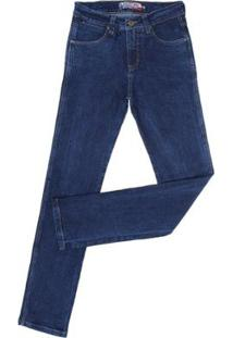 Calça Jeans Tradicional Rodeo West Masculina - Masculino-Azul