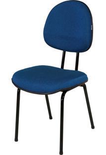 Cadeira Executiva Base Fixa S/ Braã§O C/ Azul - Azul - Dafiti