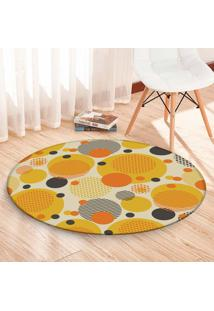 Tapete Love Decor Redondo Wevans Multi Bolas Coloridas Amarelo 94Cm