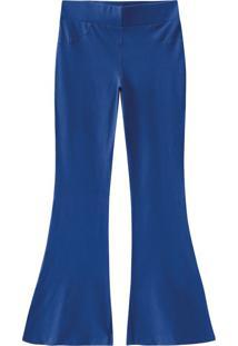 Calça Flare Cotton Malwee Azul - M
