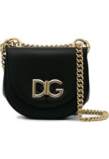 Dolce & Gabbana Bolsa Tiracolo Wifi De Couro - Preto