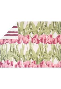 Jogo Americano Tulipa Rosa 4 Peças - Tricae