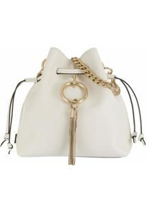 Jimmy Choo Bolsa Bucket Callie - Branco