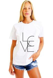 Camiseta Joss Estampada 4Love Feminina - Feminino-Branco