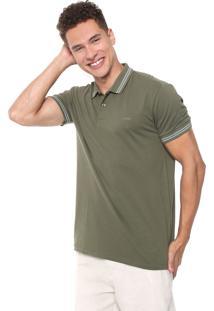 Camisa Polo Colcci Reta Listras Verde