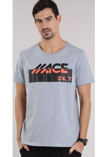 "Camiseta Ace ""24"" Cinza Mescla"