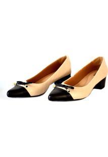 Sapato Prata Couro 1009801 Nude