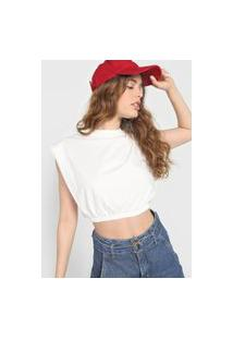 Camiseta Cropped Colcci Muscle Tee Off-White