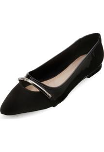 Sapatilha Lady Queen Am18-34017 Preto