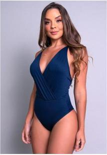 Body Bojo Mvb Modasverão Alcinha Cavado Feminino - Feminino-Azul