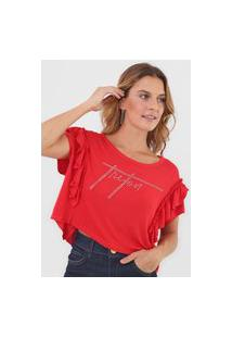 Camiseta Triton Aplicações Vermelha